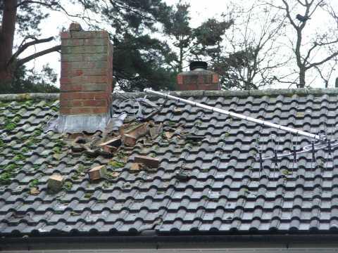 Tm Roofing Fleet Storm Damaged Chimney Stack