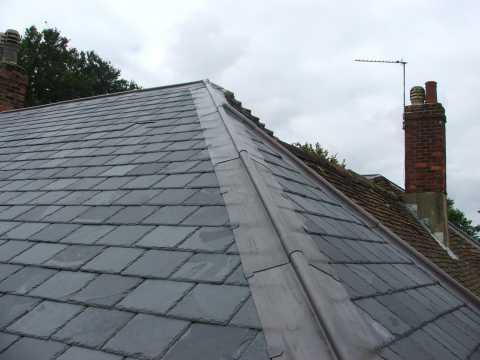 Tm Roofing In Fleet Strip Amp Re Slate Roof Alton